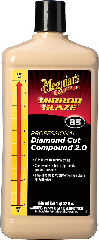 Meguiar's M8532 Mirror Glaze Diamond Cut Compound 2.0, 32 Fluid Ounces: Automotive