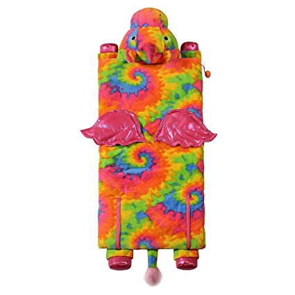 fd022916a051 Image Unavailable. Image not available for. Color  Kids Plush Animal Slumber  Sleeping Bag ...