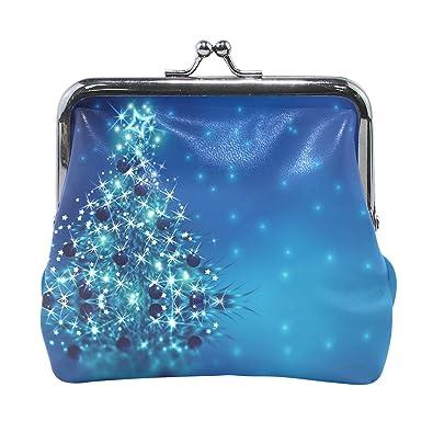 Amazon Com Vipsk Christmas Gift Tree Blue Coin Wallet Print Mom