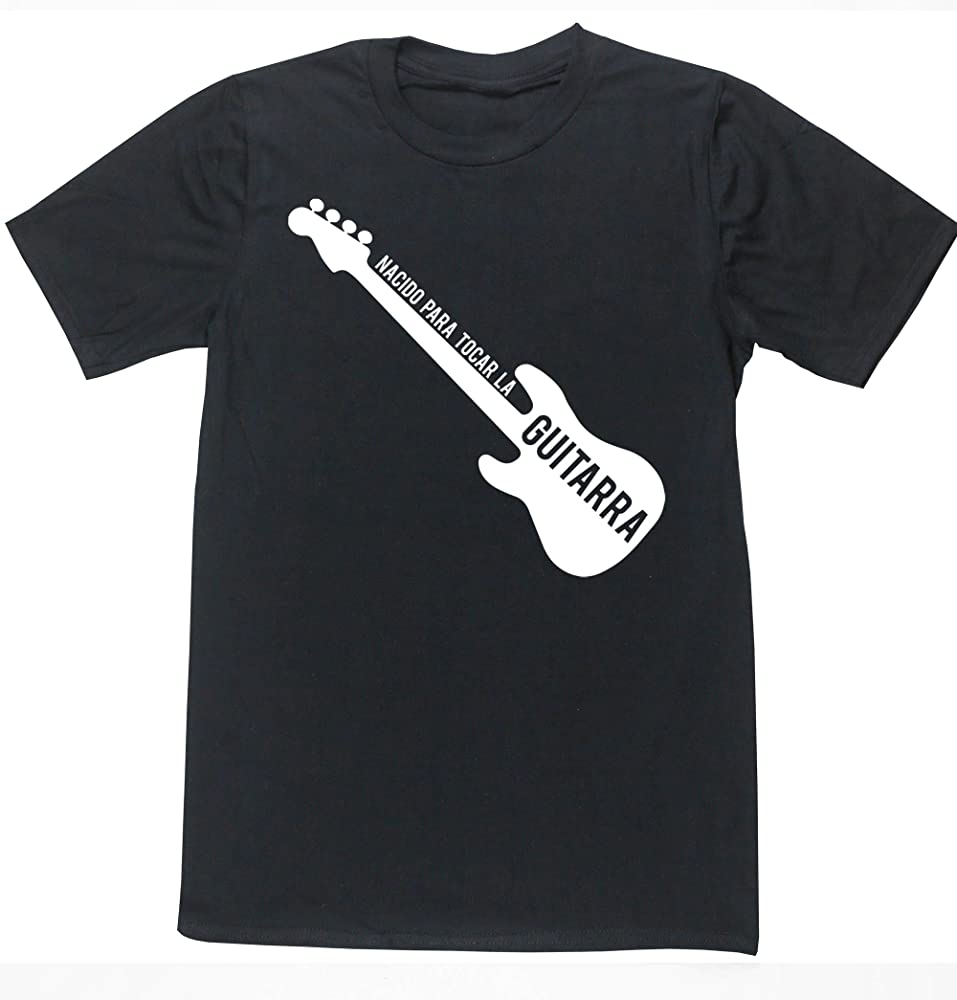 Hippowarehouse Nacido para Tocar La Guitarra (Bajo) Camiseta Manga ...