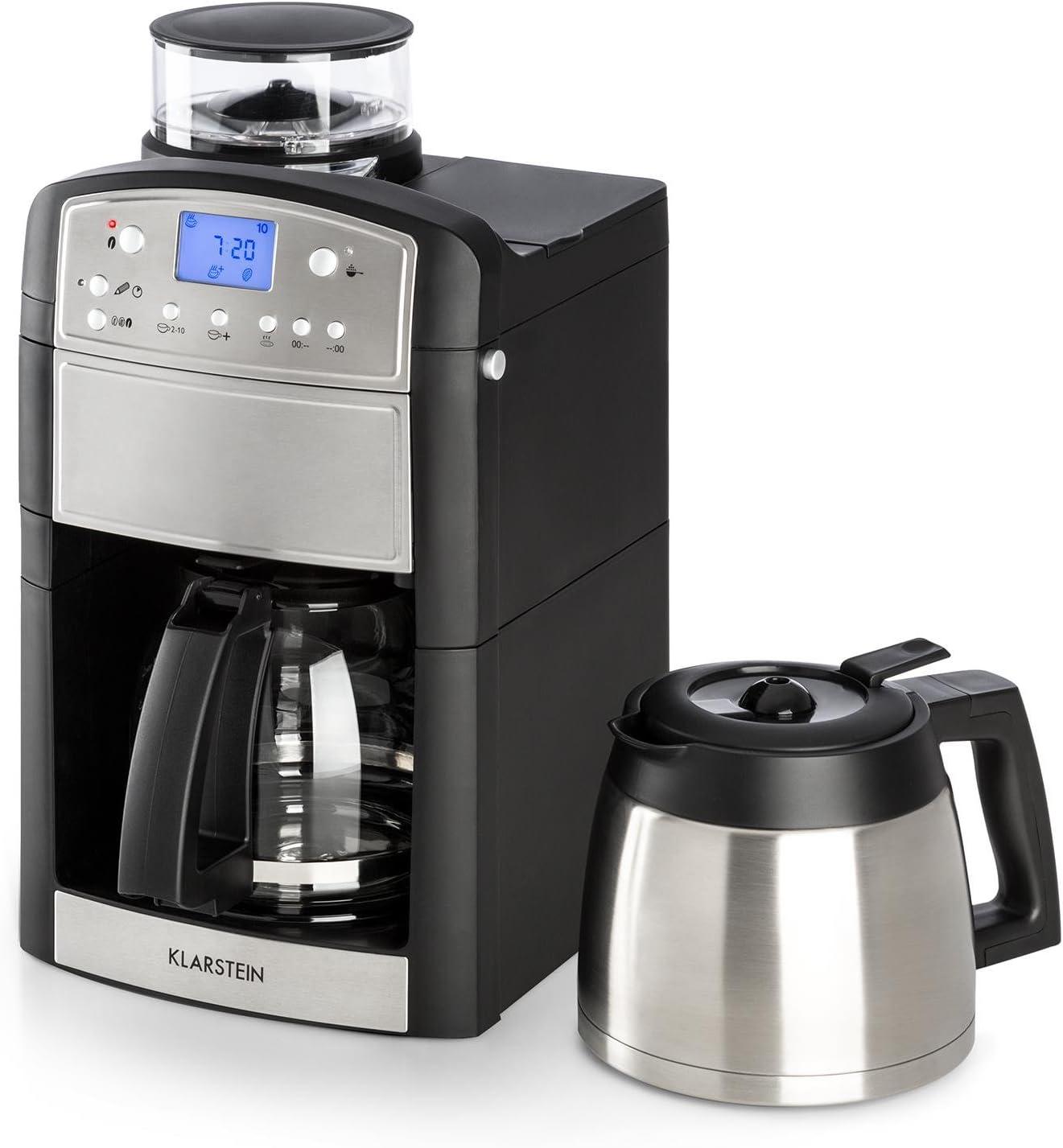 Klarstein Aromatica • Cafetera eléctrica de filtro Kit acero ...