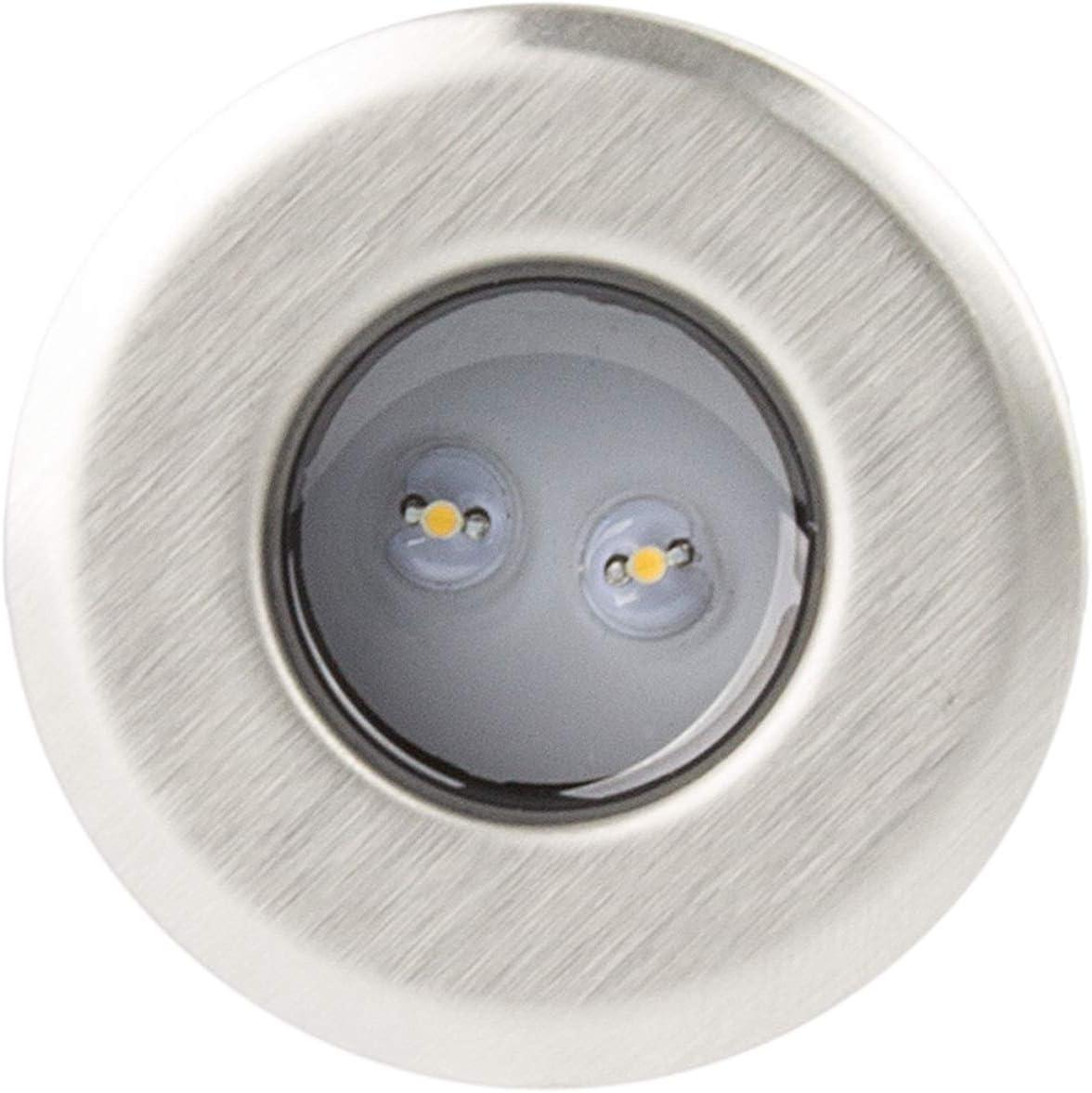 LEDKIA LIGHTING Mini Balizas LED Empotrables 0.2W Blanco Frío 5500K - 6000K: Amazon.es: Iluminación