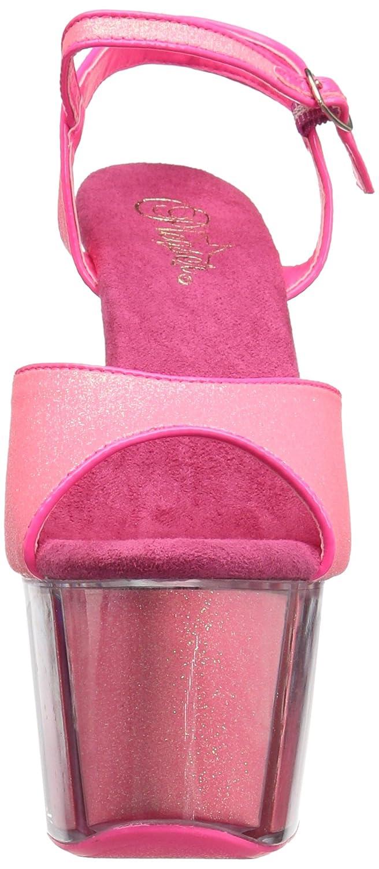 Pleaser Women's Adore-709g Sandal B01ABTB02G 8 B(M) US Neon Pink Glitter/Neon Pink Glitter