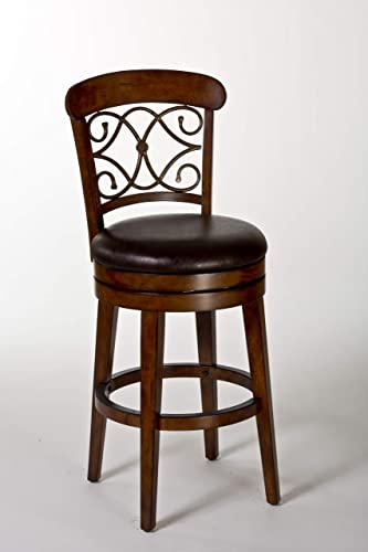 Hillsdale Furniture Bergamo Stool, Medium Brown