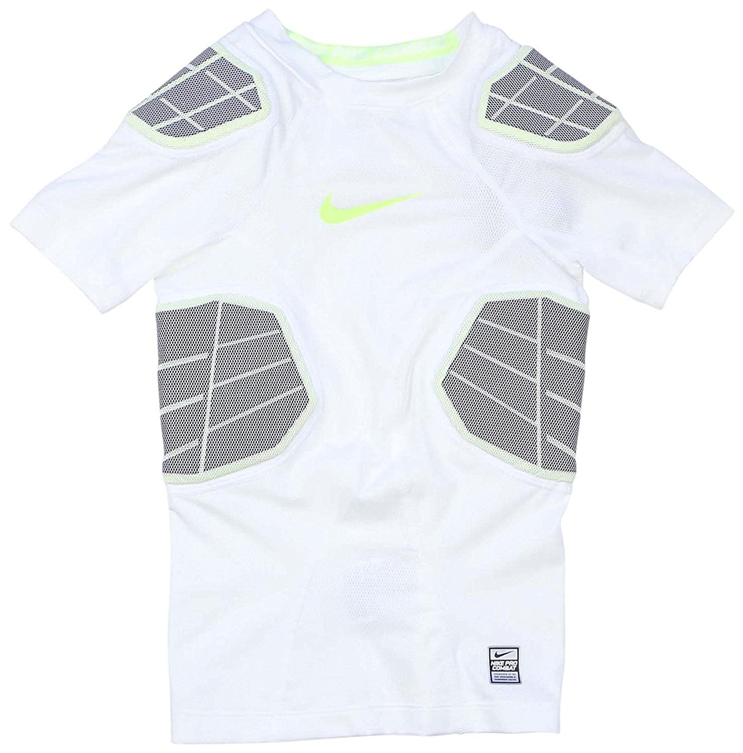 56b0c9f112be9 Amazon.com: Nike Boys Pro Combat Hyperstrong Padded Football Shirt White  584397 100 (m): Clothing