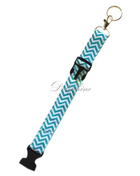 Amazon.com: tela ajustable Wristlets pulsera con llavero del ...