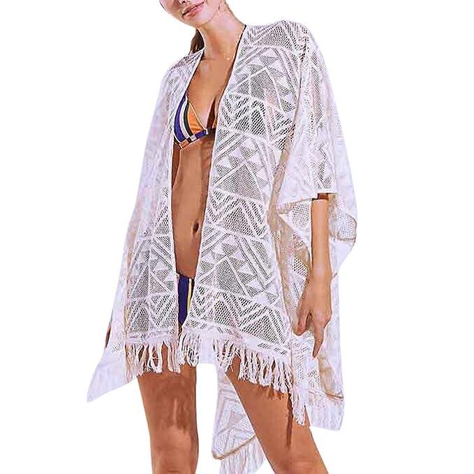 Zarupeng Las Mujeres de Moda Cubren la Blusa Tops Traje de Encaje Bikini Traje de Baño Beach Traje de Baño Delantal: Amazon.es: Ropa y accesorios