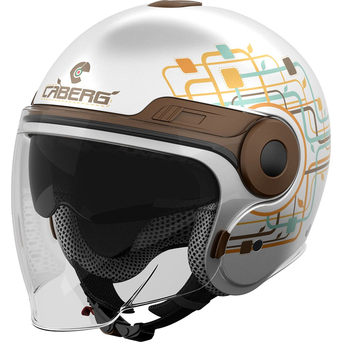 Caberg Uptown Lady Open Face Motorcycle Helmet S White Brown: Uptown: Amazon.es: Deportes y aire libre