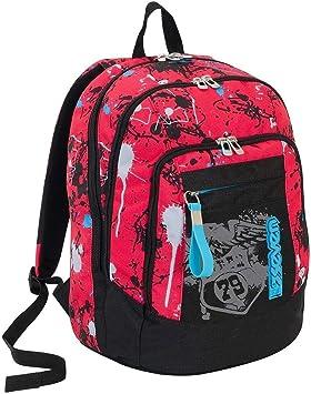 Mochila DVANCED USB Plug 201001933 Sprinkle Rojo + Estuche 3 Cremalleras Completo Rojo 301011909 Sprinkle coordinado + 3 Cuadernos Surtidos Seven colección 2020 coordinados: Amazon.es: Equipaje