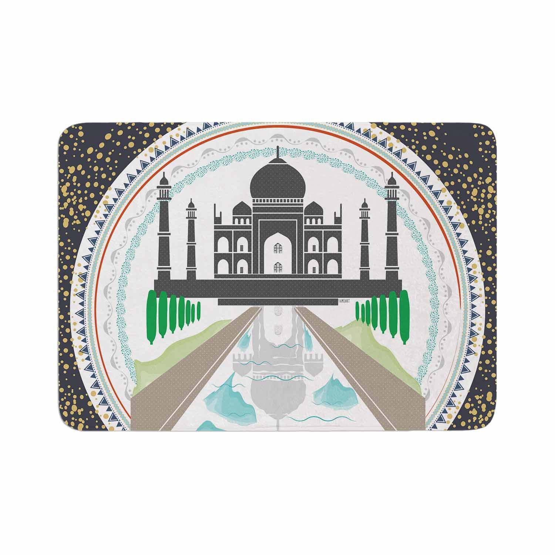 KESS InHouse FM1070ABM01 Bath Mat Famenxt ''The Taj Mahal India'' Green Gray Memory Foam Bath Mat, 17'' X 24'',,
