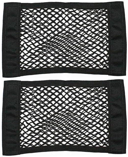 Gobesty Kofferraum Netztasche Klett 2 Stück Auto Kofferraumtasche Netz Elastisch Nylon Kofferraumnetz Lagerung Mesh Für Universal Auto Suv Kofferraum Auto