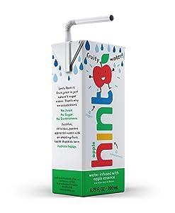 Hint Kids Water Apple, (Pack of 8) 6.75 Fl Oz, Pure Water Infused With Apple, Zero Sugar, Zero Calories, Zero Sweeteners, Zero Preservatives, Zero Artificial Flavors