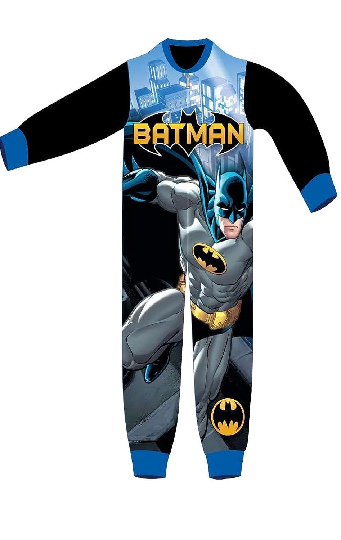 Batman Boys Licensed Micro Fleece Onesies Age 3 to 8 Years Grey)