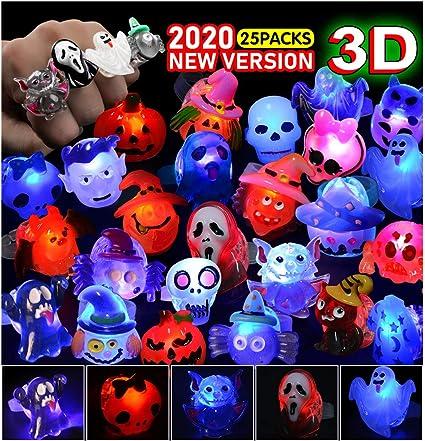 Halloween Ring 2020 Amazon.com: FLY2SKY 3D Halloween Treats 25Pcs Halloween LED Ring