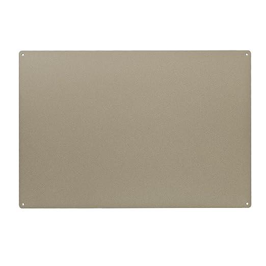 KalaMitica 60038-902-000 Pizarra Magnética de Acero, 56x38x0,12 cm, Beige, Metal, 56x38x1.2 cm