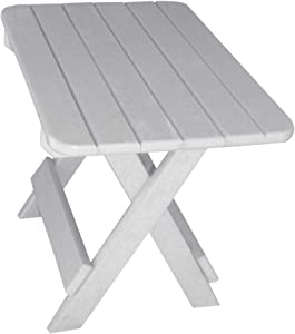 Phat Tommy Recycled Poly Resin Folding Side Table – Durable & Eco-Friendly. This Patio Furniture is Great for Your Adirondack Chair, Lawn, Garden, Swimming Pool, Deck. (Grey)