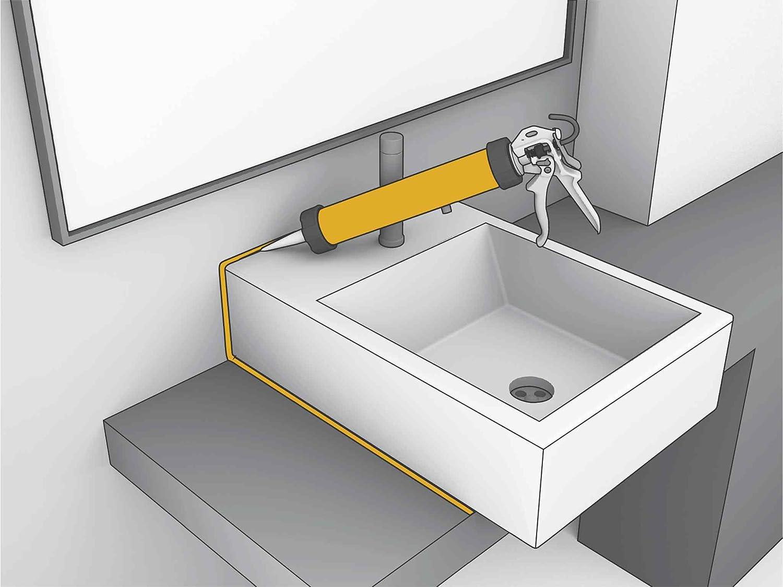 Sika Sanisil, Sellador de Silicona para baños, Blanco, 300ml: Amazon.es: Bricolaje y herramientas