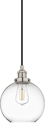 Primo Large Glass Globe Pendant Light Fixture