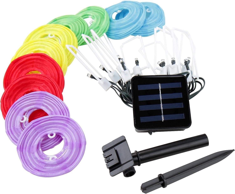 Jago 10 farolillos Guirnalda de farolillos tira de luces LED multicolor a luz solar