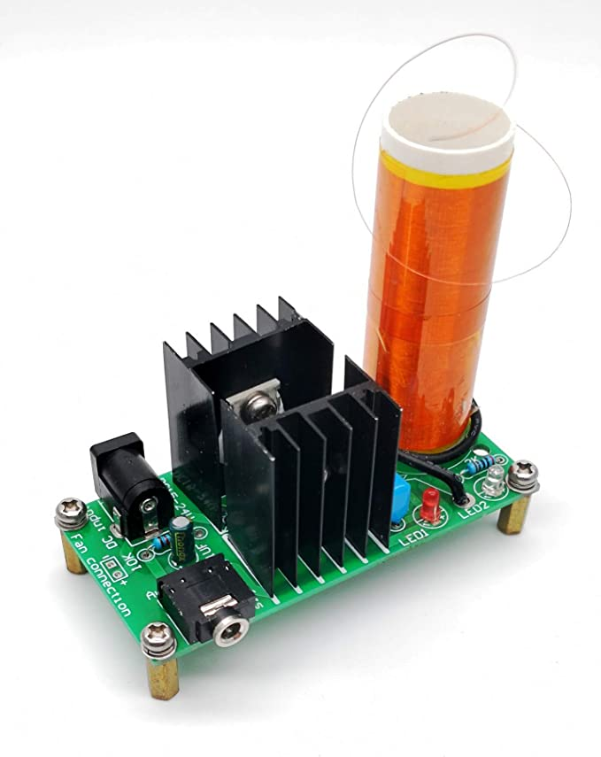 DC 15-24V 2A Mini Tesla Coil Plasma Speaker Electric/_Electronic Kit 15W DIY Tool