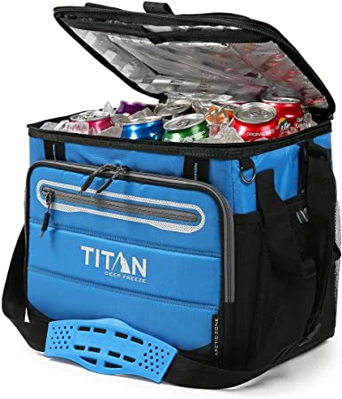 Amazon Com Arctic Zone Titan Guide Series 40 Can Cooler Blue Clothing