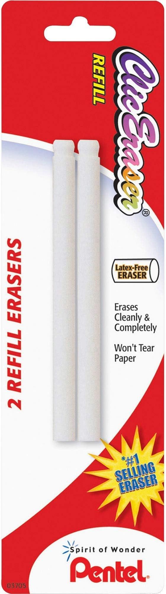 2//PK Sold as 1 Package Eraser Refill White Nonabrasive
