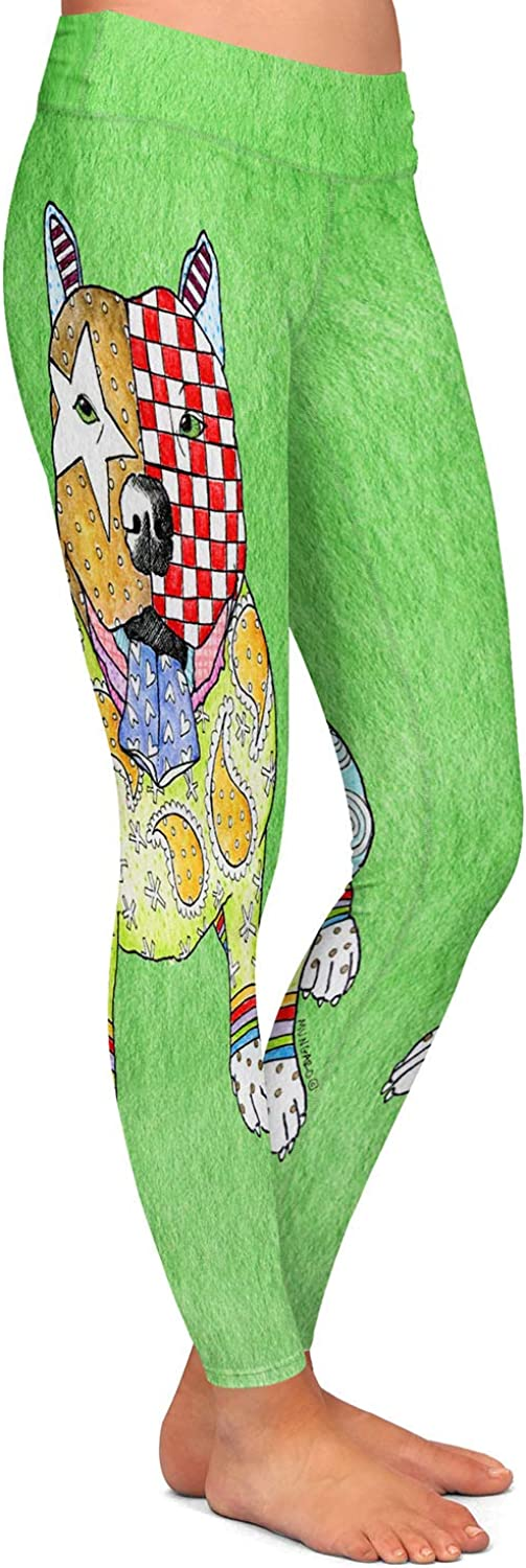 Pitbull Green Athletic Yoga Leggings from DiaNoche Designs by Marley Ungaro
