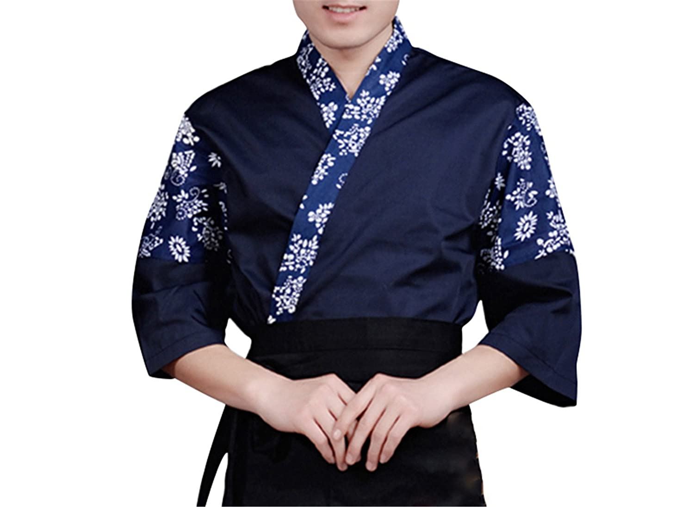 Amazon.com: Desirca Chef Kimono Chaqueta de chef para mujer ...