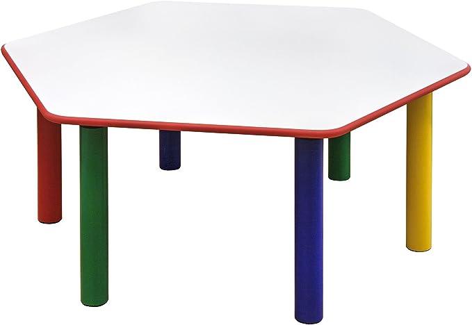 Tavolo Esagonale lato 65cm prodotto adatto per Asili e Scuole Materne