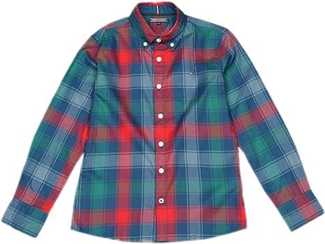 Tommy Hilfiger - Camisa Cuadros- Camisa NIÑO: Amazon.es: Ropa y accesorios