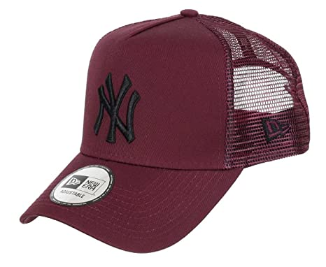8df14147 New Era League Essential New York Yankees Trucker Cap, Maroon/Black ...