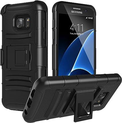 MoKo Compatible con Samsung Galaxy S7 Funda, Full Body Resistente ...
