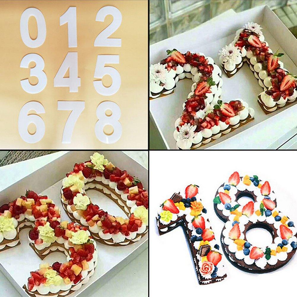 Molde de plástico para pasteles, de 0 a 8 números, apto para uso alimentario, 20 cm, 7 longyitrade 1: Amazon.es: Hogar