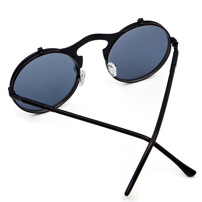 Amazon.com: leckirut Mujeres Hombres Ronda anteojos de sol ...
