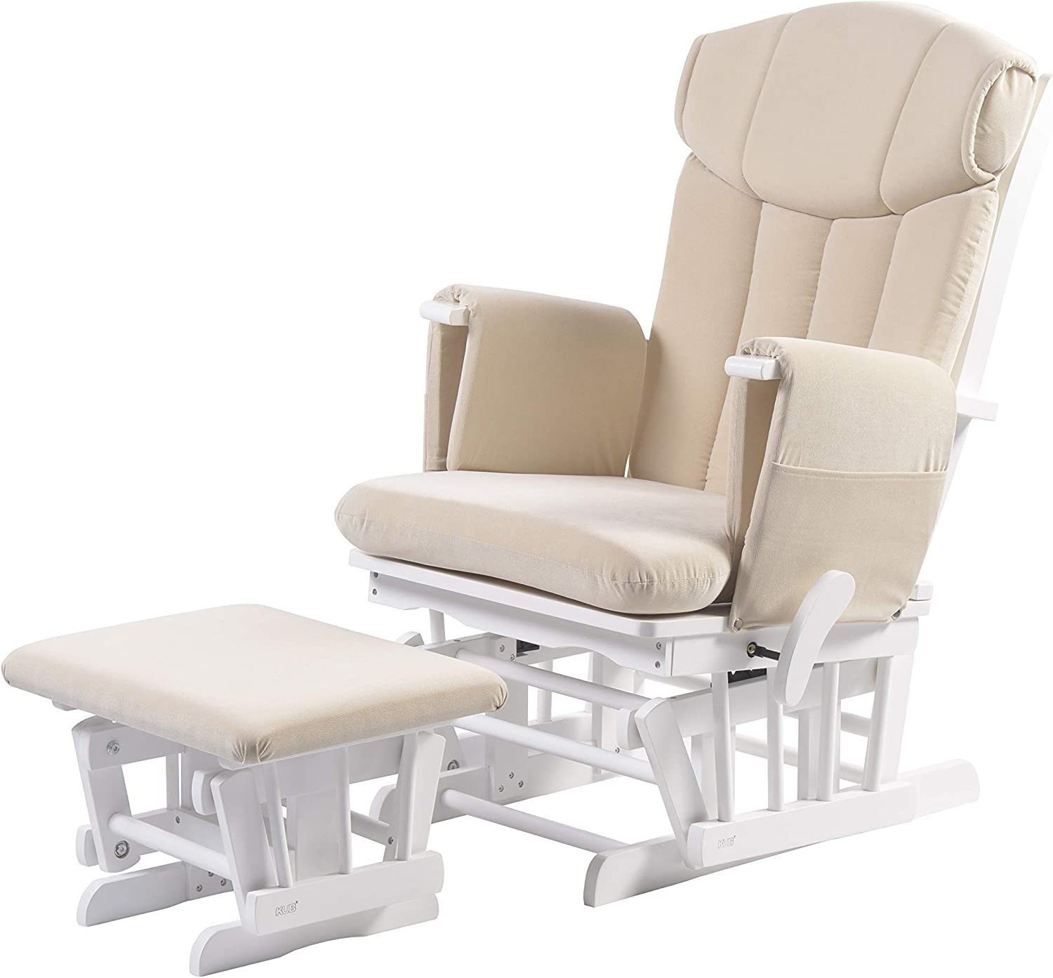 Oatmeal Chatsworth Nursing Glider and Footstool