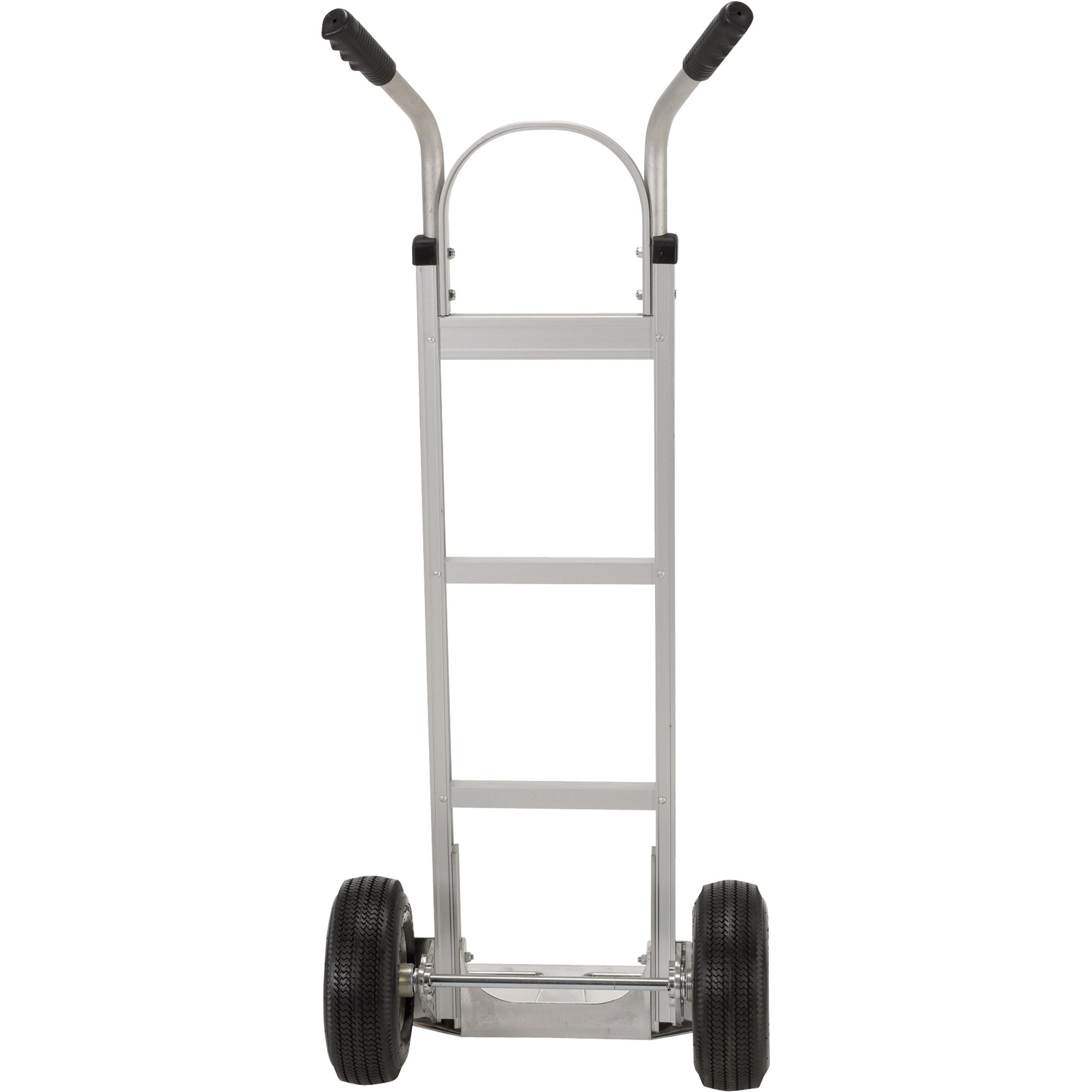Vestil DHHT-500A Aluminum Hand Truck with Dual Handle, Pneumatic Wheels, 500 lbS Load Capacity, 49'' Height x 20-1/4'' Width x 18'' Depth