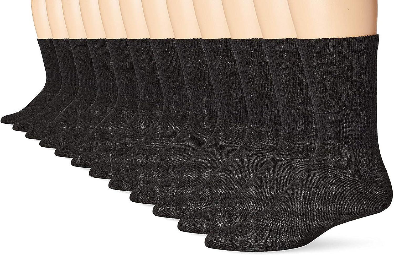 Hanes Men's Big-Tall FreshIQ Crew Socks