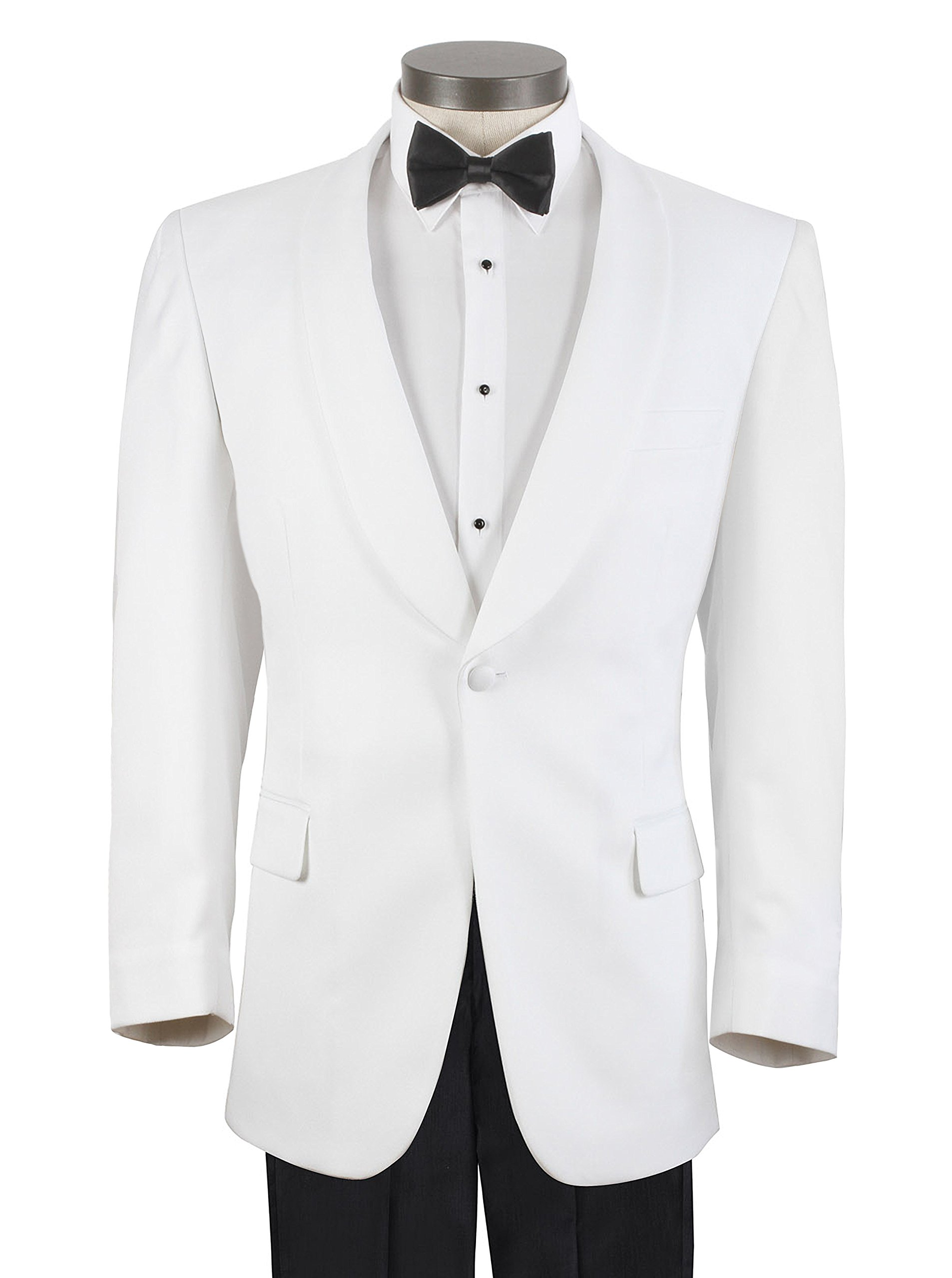 Men's White Formal Dinner Jacket - 40 Regular