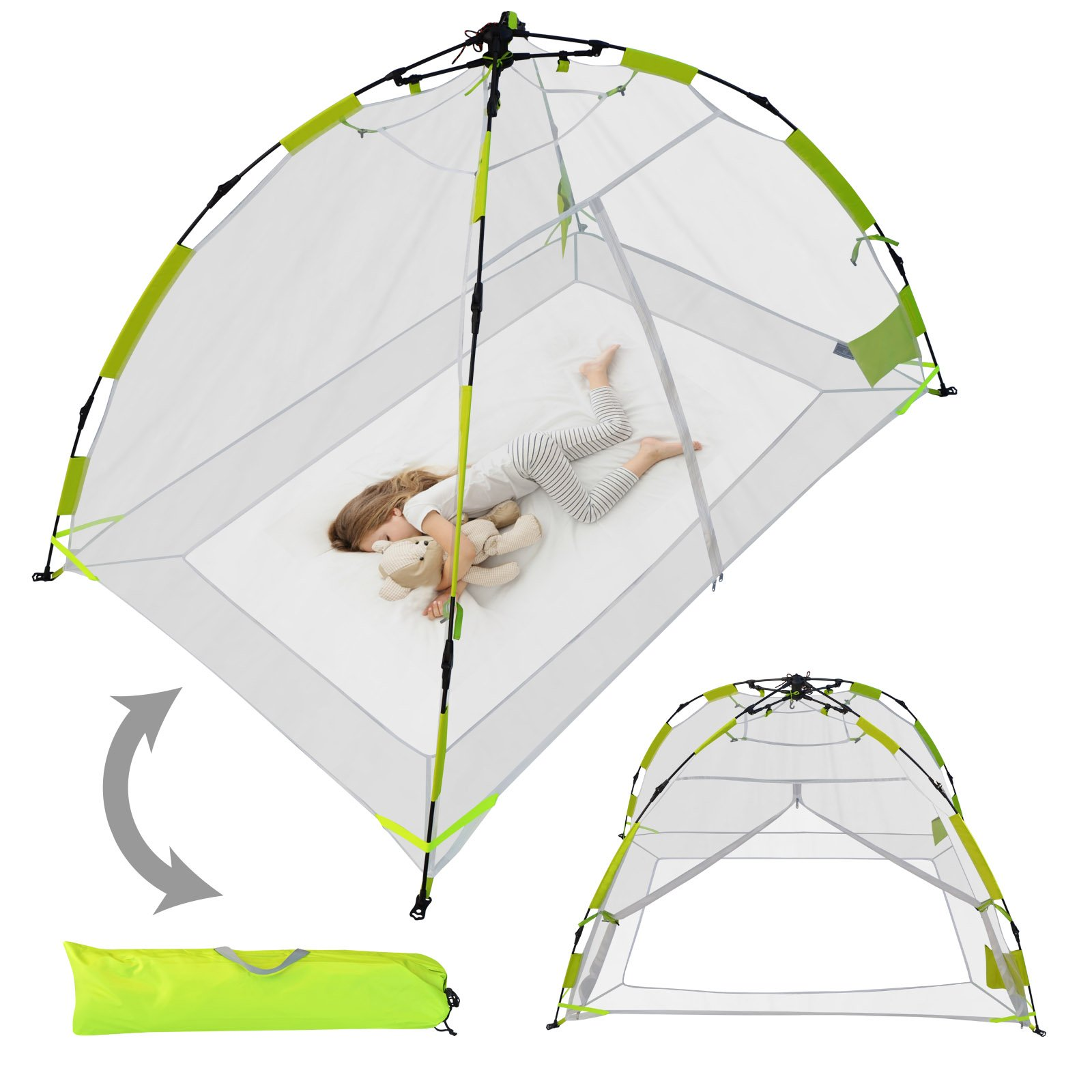 BenefitUSA Kid Family Pet Mosquito Net Multi-use Pop up Instant Tent Indoor Camping Outdoor by BenefitUSA