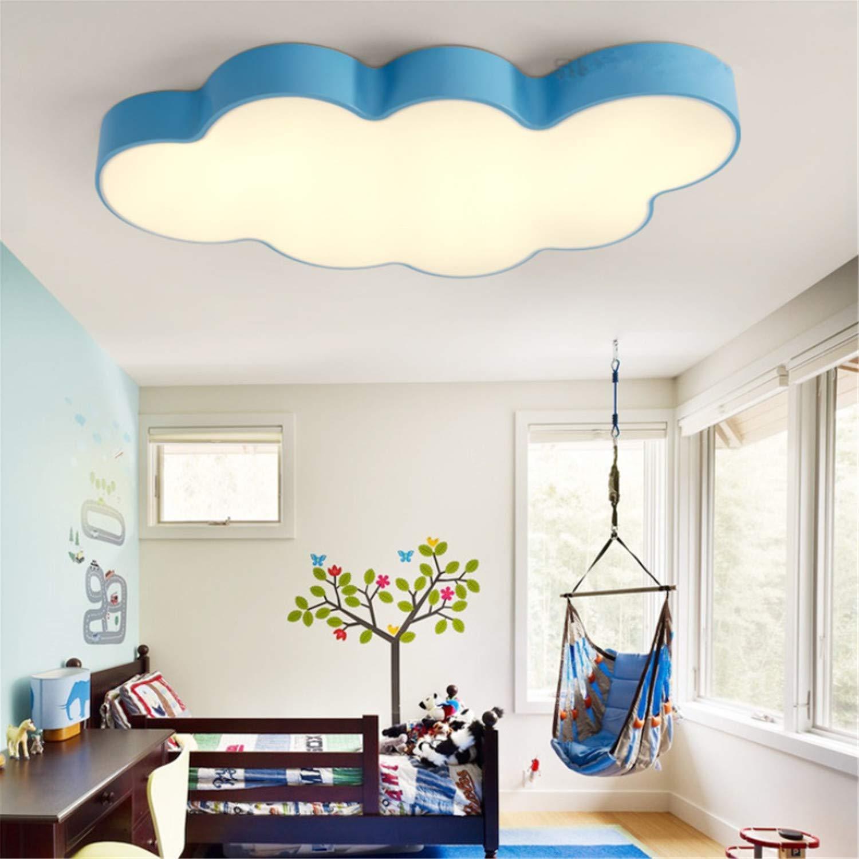 Ledシーリングランプ調光対応モダンシーリングランプ寝室キッチン廊下リビングルームランプ保存光エネルギー子供クラウド若い女の子 Blue  Blue B07T4NCP38