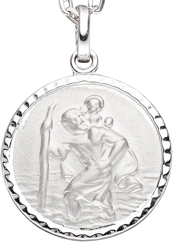 JOBO Damen-Anh/änger Christopherus aus 925 Silber