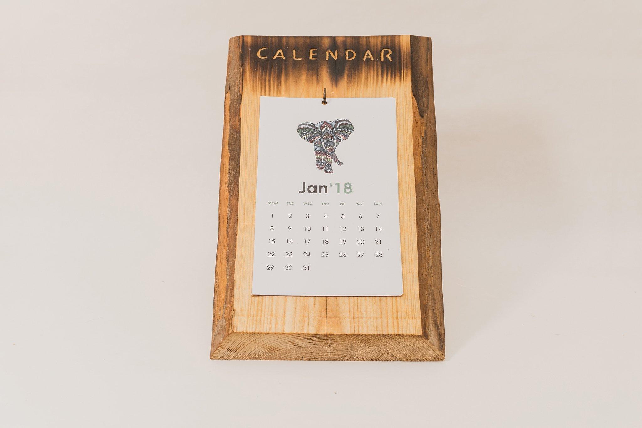 Wood wall calendar, Wood calendar, Handmade calendar, rustic calendar, eco calendar, reusable calendar, calendar holder, diy calendar