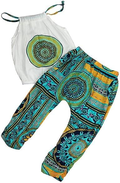 Toddler Kid Baby Girl Tank Tops Shirt+Pants Summer Beach Outfit Clothes 2PCS Set