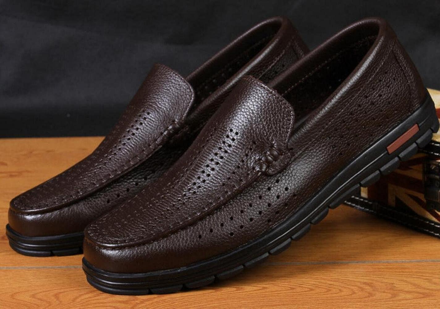 Männer Sommer ältere Einzelne Schuhe Lederschuhe Einzelne ältere Schuhe Braun1 f166f0