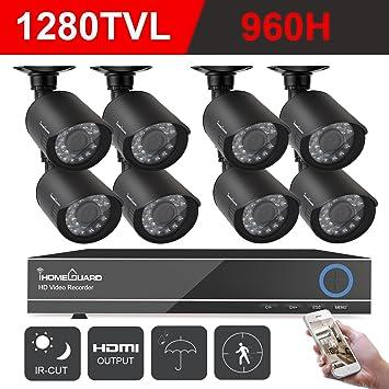Camara De Seguridad Para Casas Profesionales Vision Noche DVR Afuera 8 Pck imper