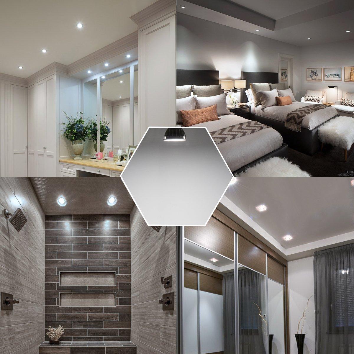 bombillas LED en dormitorio, salón y baño