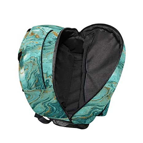 Amazon.com  ZZKKO Turquoise Marble Backpacks College School Book Bag Travel  Hiking Camping Daypack  Computers   Accessories caa28faa33