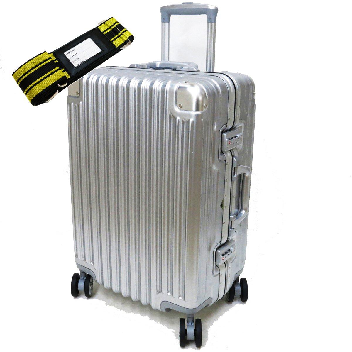 [セット品] (シフレ トライデント) siffler TRIDENT TRI1030-52 スーツケース 受託手荷物無料サイズ(カバンクラブ) 鞄倶楽部 59013 スーツケースベルト 【合計2点セット】 B01N6Y1MTJシルバー