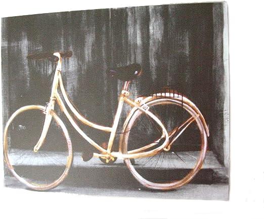 Desconocido Cuadro Tabla Bicicleta Antigua Pared Gris: Amazon.es ...