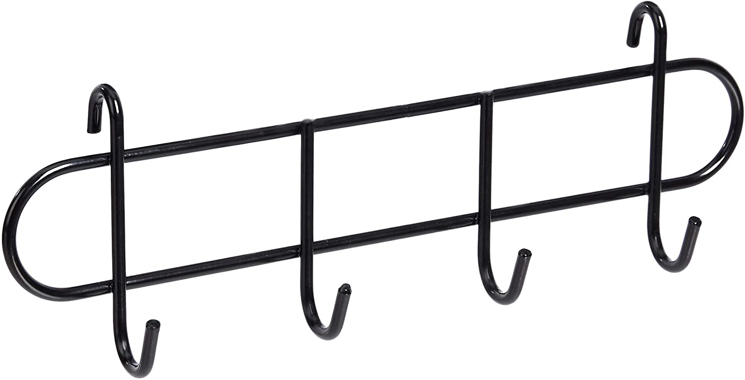 AmazonBasics Hook Rack for Wall Grid Panel, Black